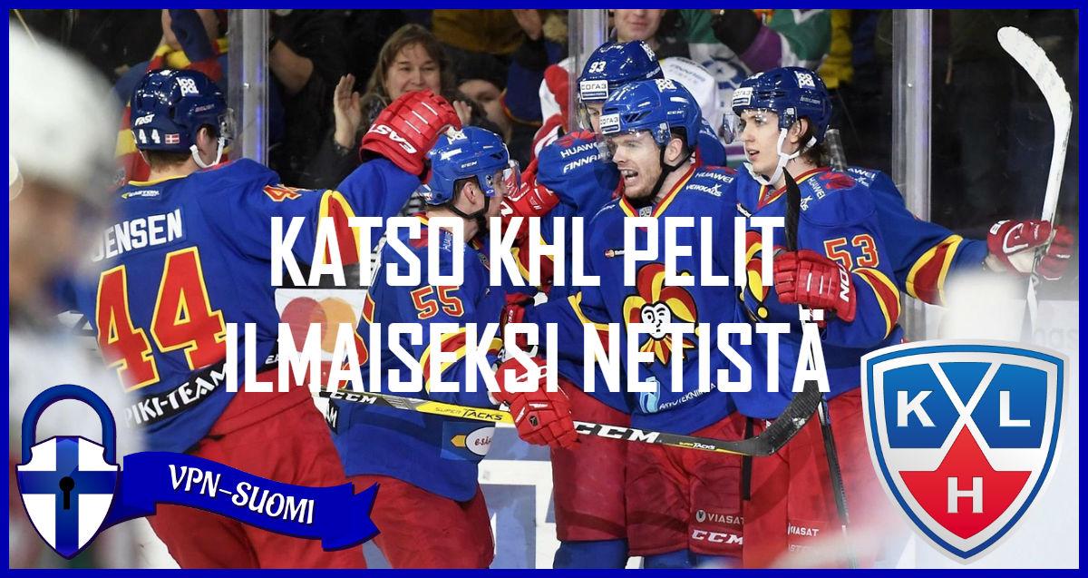 Katso KHL pelit ilmaiseksi netissä