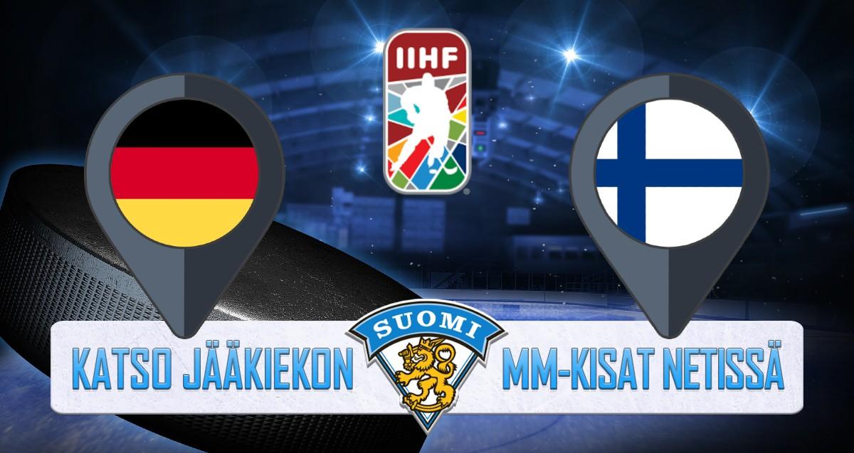 Saksa - Suomi Jääkiekon MM kisat