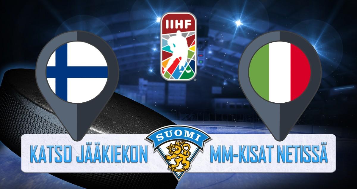 Suomi - Italia Jääkiekon MM kisat