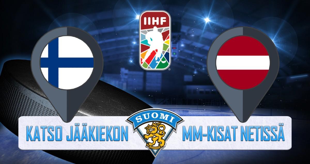Suomi - Latvia Jääkiekon MM kisat