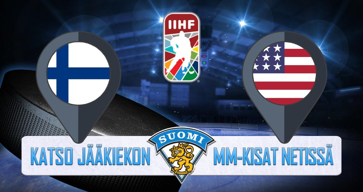 Suomi - USA Jääkiekon MM kisat