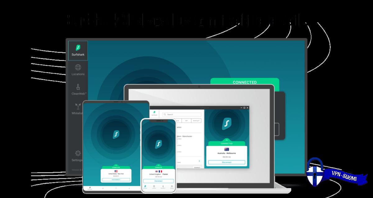 Surfshark VPN kaikki laitteet